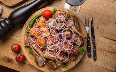 Грузинская блюда на огне