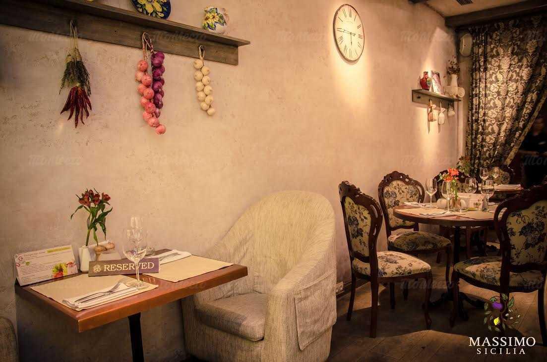 Меню ресторана Massimo (Массимо) на Большой Морской улице