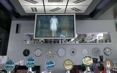 Банкетный зал бара, ночного клуба Громов бар (Gromov bar) на Индустриальном проспекте