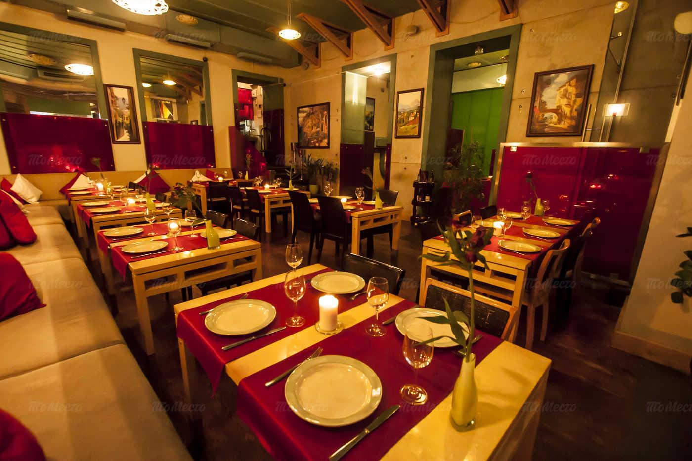 Меню ресторана Сардина (Sardina) на улице Рубинштейна