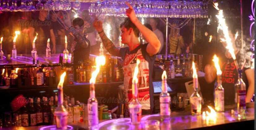 Меню ночного клуба, ресторана Шампань (Champagne) на Петергофском шоссе