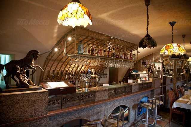 Меню кафе Грот на набережной реки Фонтанки