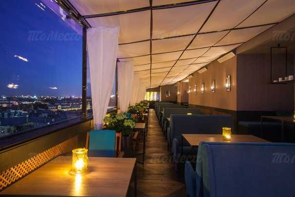 Меню ресторана Скай Террас (Sky Terrace) на улице Льва Толстого