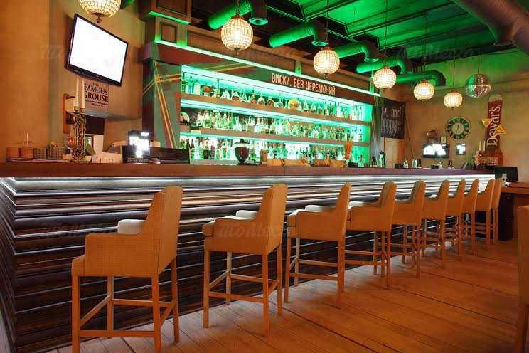 Меню бара, паба Jimmy's Pub (Джиммис Паб) на Дербеневской набережной