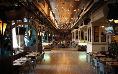 Банкетный зал бара, ресторана Радио Сити (Radio City) на Большой Садовой улице