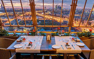 Банкетный зал ресторана Sky Lounge (Скай лаунж) на Ленинском проспекте