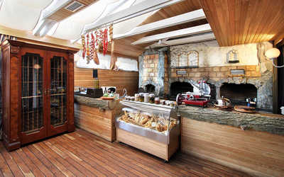 Банкетный зал ресторана Анджело (Angelo) на проспекте 60-летия Октября