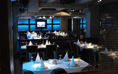 Банкетный зал бара, пивного ресторана Жигули на улице Новый Арбат