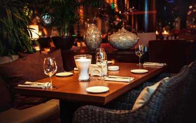 Банкетный зал ресторана Зафферано (Zafferano) на Новинском бульваре