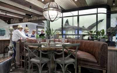 Банкетный зал ресторана Рыбка в переулке Плотников