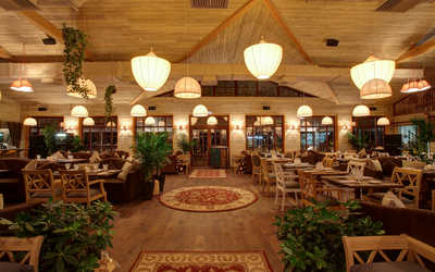 Банкетный зал ресторана Villa Zималеtо (Вилла ЗимаЛето) на Южной дороге