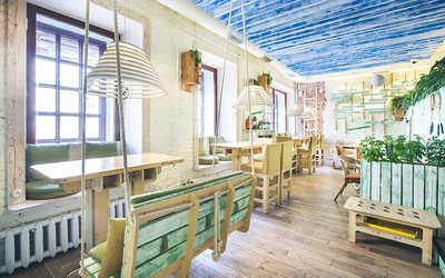 Банкетный зал кафе УКРОП лето на Малой Конюшенной улице