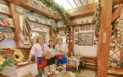 Банкетный зал ресторана Корчма Тарас Бульба на улице Петровка