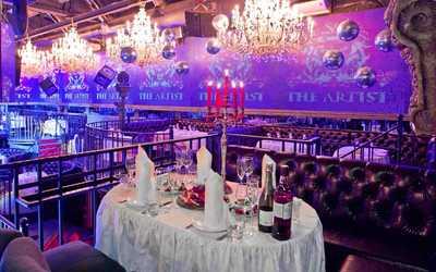 Банкетный зал ночного клуба, ресторана The Artist (Артист) на Рочдельской улице