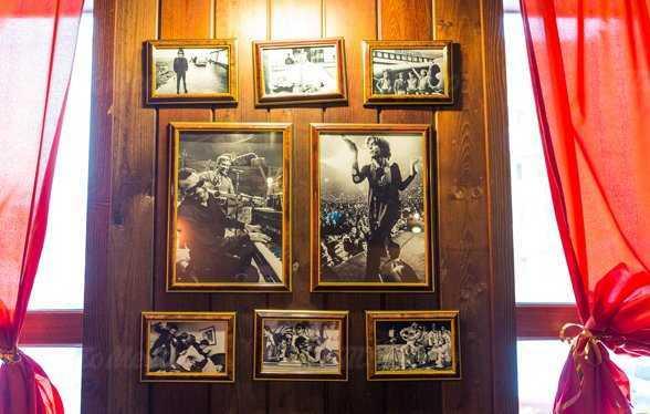 Меню бара, кафе Rock Arsenal (Рок Арсенал) на улице Луначарского