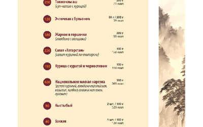 Банкетное меню ресторана Канпай на Оренбургском тракте фото 2