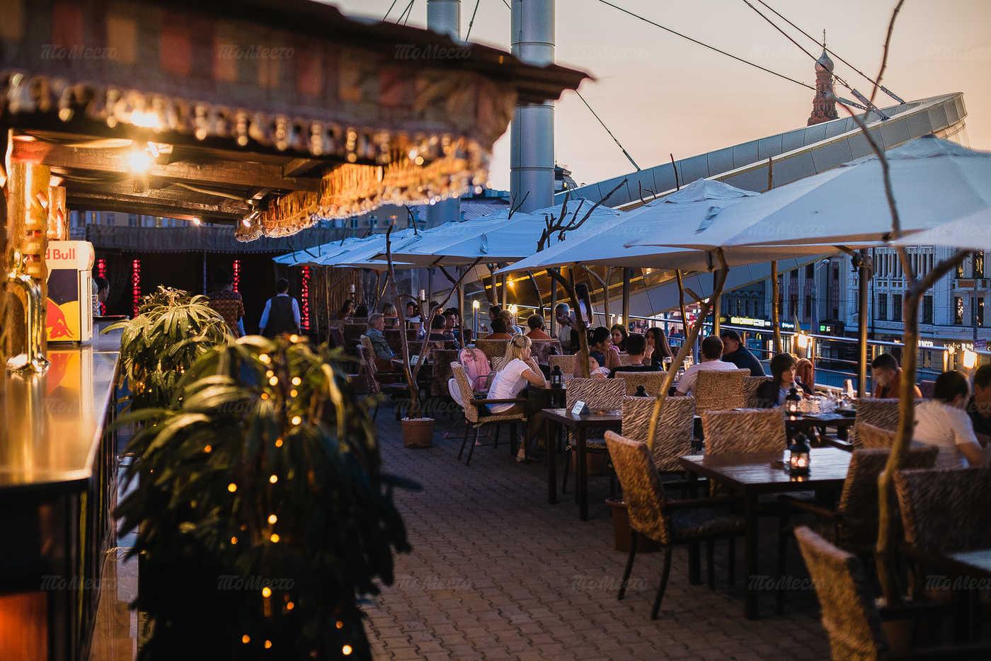 Меню ресторана Сахара (Sahara) на улице Петербургской