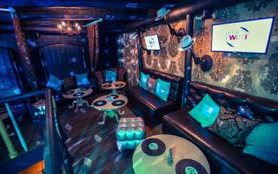 Банкетный зал бара, ночного клуба Let's Twist (Лэтс Твист) на Комсомольском проспекте