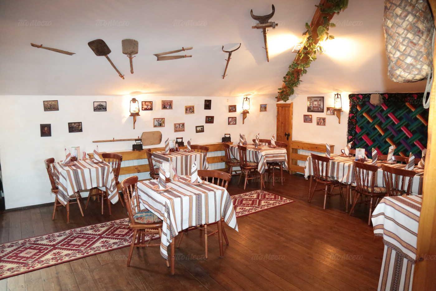 Меню ресторана Корчма Тарас Бульба в Шмитовском проезде