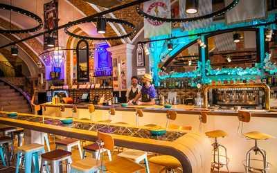 Банкетный зал пивного ресторана Чагин на улице Большой Лубянка