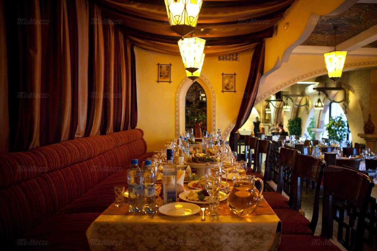 Меню ресторана Аладдин на улице Романова