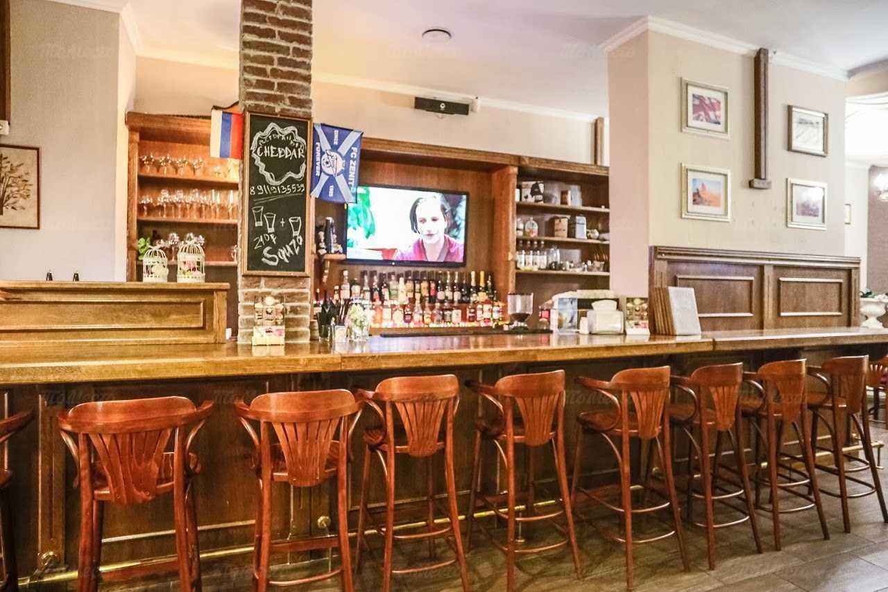 Меню бара, ресторана Cheddar на проспекте Народного Ополчения