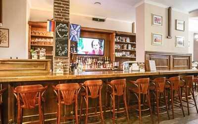 Банкетный зал бара, ресторана Cheddar на проспекте Народного Ополчения фото 2