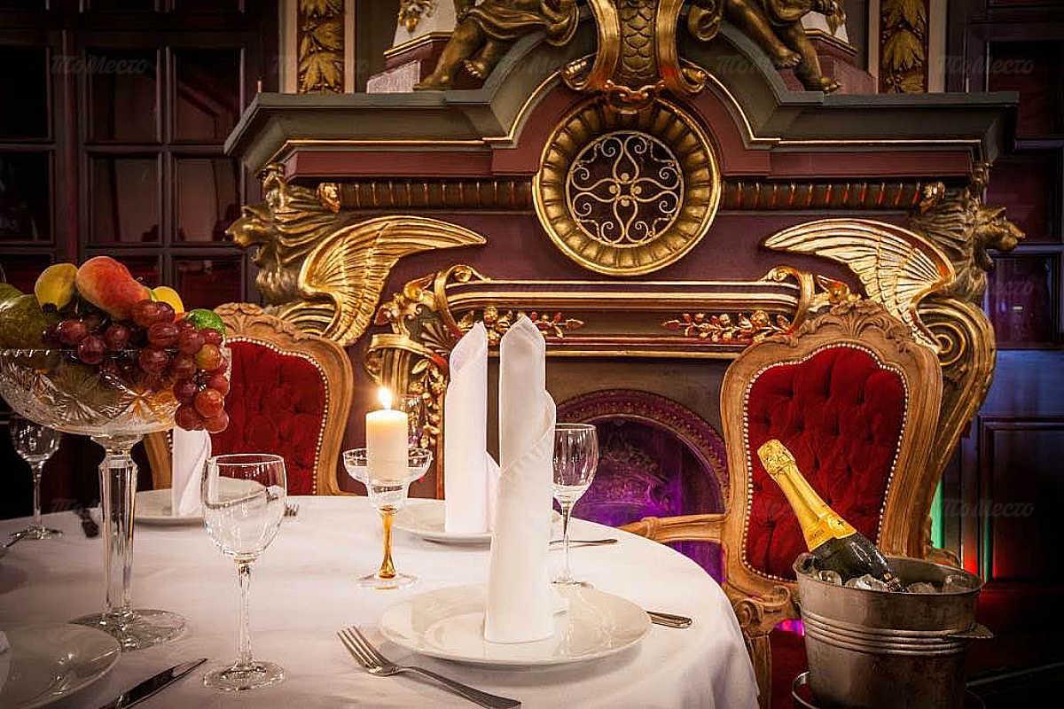Меню ресторана Серебряный век в Театральном проезде